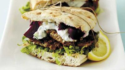 "<a href=""http://kitchen.nine.com.au/2016/05/17/19/06/lamb-patties-with-beetroot-and-tzatziki"" target=""_top"">Lamb patties with beetroot and tzatziki</a> recipe"