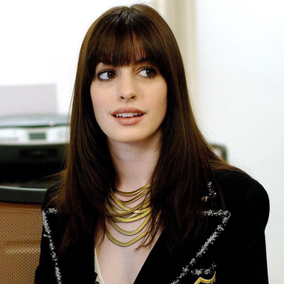 """Anne Hathaway as Andrea """"Andy"""" Sachs: Then"""