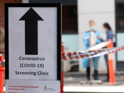 Coronavirus clinic in Melbourne.