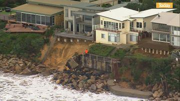 Beach erosion on NSW coast leaves residents on edge