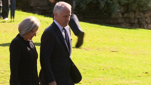 Prime Minister Malcolm Turnbull and wife, Lucy. (9NEWS)