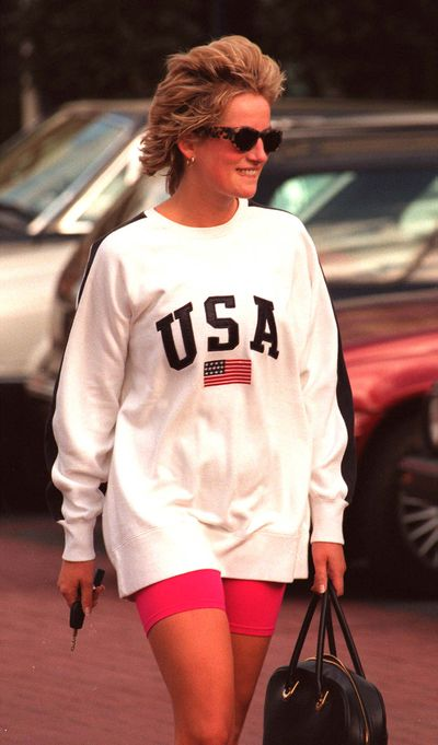Diana, Princess of Wales at the Chelsea Harbour Health Club, 1997