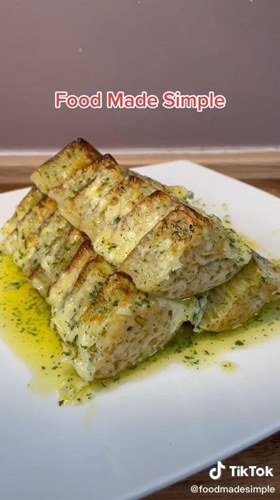 TikTok, garlic bread with crumpets
