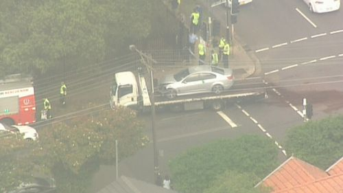 Police were pursuing the second individual on foot after the crash, however the PolAir helicopter was also deployed.