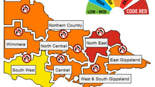 Vic to swelter on Monday amid fire fears
