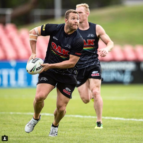The injury comes amid a list of other stars ruled out of the Panthers' line-up, including Josh Mansour and Nathan Cleary. Picture: Instagram.