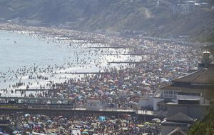 Brits flood to beaches ahead of social distancing restrictions being eased
