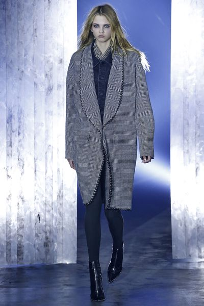 <p>Neutral Gray- the perfect sleek shade of gray, to give you that extra edge on a cool night.</p> <p>Alexander Wang, A/W 17.</p>