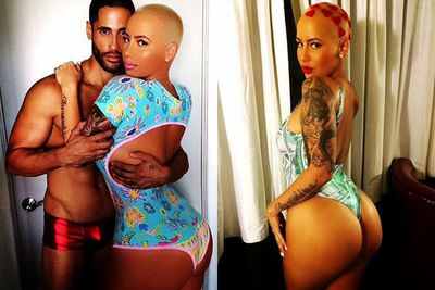 <br/><br/>It's safe to say Amber Rose is not Insta-shy. <br/><br/>Which is why we're not that surprised by her booty flash on social media earlier today. Wonder if estranged hubby Wiz Khalifa's rethinking those divorce papers now? <br/><br/>But Amber's not the only celeb embracing the butt selfie. <br/><br/>Scroll through to see the best backsides on Instagram...