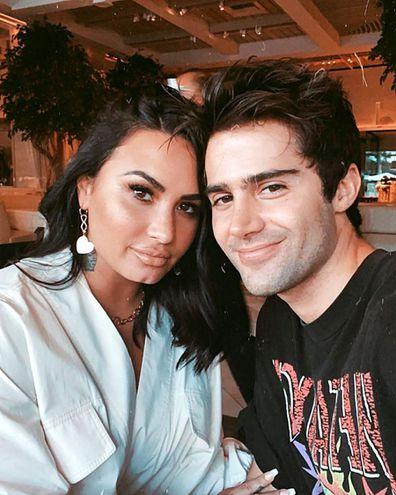 Demi Lovato, ex-fiancé Max Ehrich, Instagram selfie