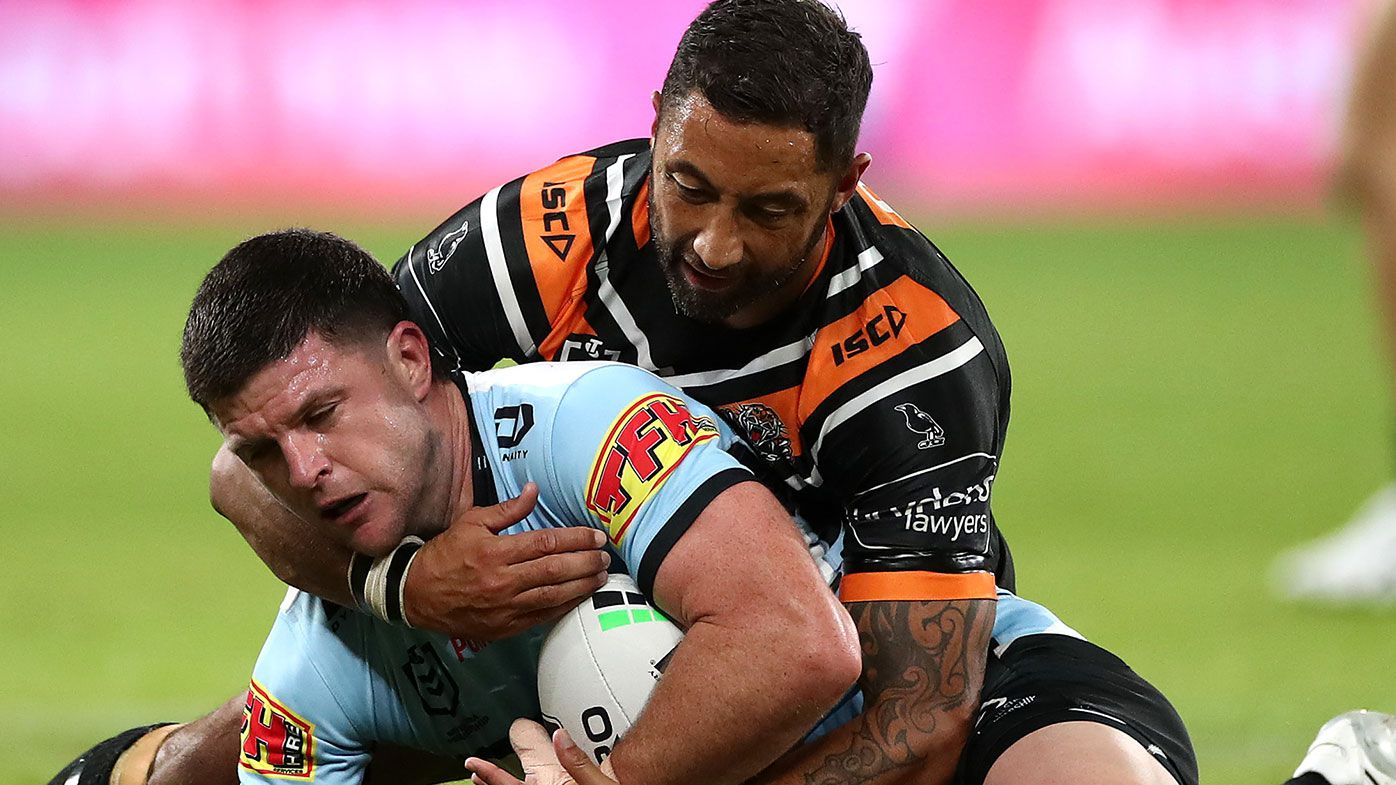 Wests Tigers compound Sharks woes with come from behind 28-16 win