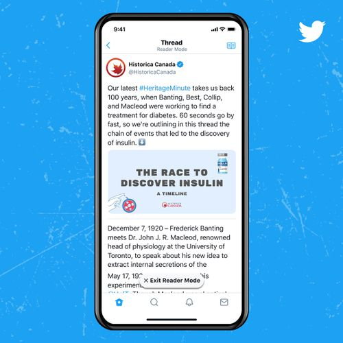 Reader Mode turns long threads on Twitter into easy-to-read text.