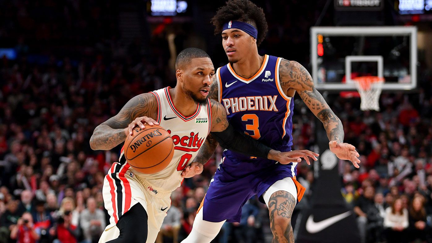 Phoenix Suns star Kelly Oubre blows kisses to Portland crowd during victory over Trail Blazers