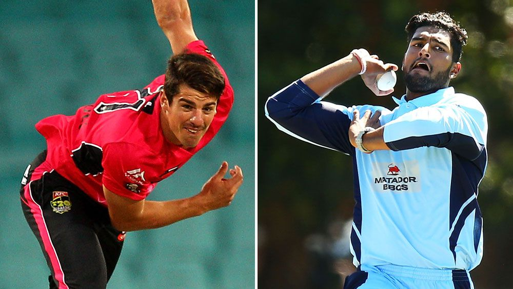Sean Abbott (l) and Gurinder Sandhu. (Getty)