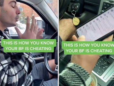 Woman claims to have caught boyfriend cheating after wifi settings on his phone.