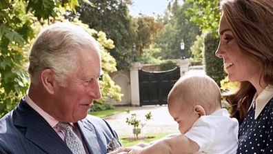 Unseen photo of Prince Louis with Prince Charles