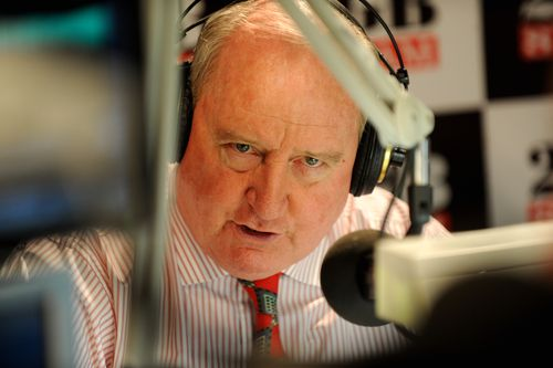 Radio host ALan Jones confirmed Tim Joyce's death on his radio program this morning. Picture: AAP