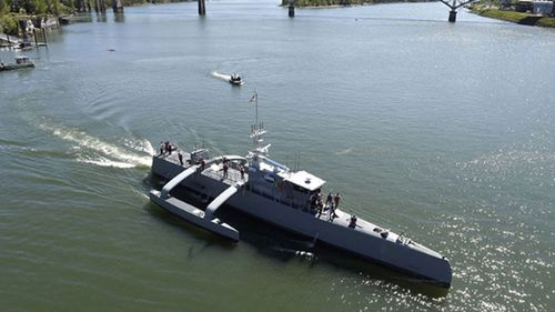 The US developed Sea Hunter is an entirely new class of unmanned ocean-going vessel. (Wikimedia Commons)