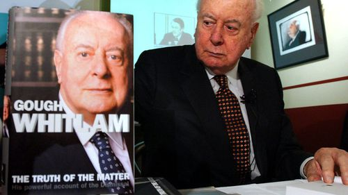 "The former PM launches his book on the 30th anniversary of ""The Dismissal"" in 2005. (AAP)"