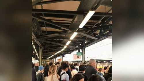 Commuters are being forced to switch trains at Central station because of the emergency track work.