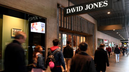 Faced with the challenge of online retailing and foreign companies, David Jones has struggled however - with its value slashed by $712 million this year. Picture: AAP.