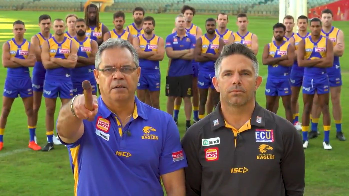 'When will this end?': West Coast Eagles take powerful stand against racial vilification