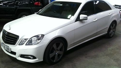 Raphael Joseph's white E350 Mercedes. Mr Joseph was last seen getting into a car with at least two men in the city's western suburbs and is believed to have been kidnapped. (AAP)