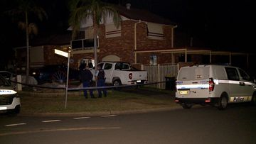 A man has been arrested after a stabbing in Sydney's west early this morning.