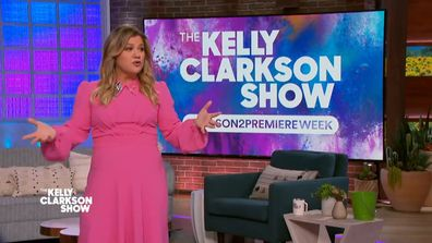Kelly Clarkson addressed her pending divorce on the show