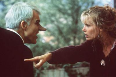 Steve Martin didn't fool many audience members with this unforgettable nose extension. Playing C.D Bales, a character with an enormous personality and nostrils to match, he tries to woo beautiful Roxanne (Daryl Hannah) with his smarts, only to watch her fall in love with someone else more handsome.