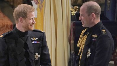 Prince Harry and Prince William at the royal wedding