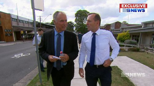 Mr Alexander with Tony Abbott today. (9NEWS)
