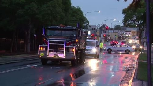 Woman seriously injured after being struck by truck in Sydney's west