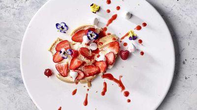 """Recipe:<a href=""""http://kitchen.nine.com.au/2017/10/13/09/22/anna-polyvious-mess-tart"""" target=""""_top"""">Anna Polyviou's mess tart</a>"""