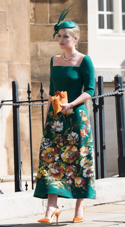 "<p>The model put her sartorial stamp on a structured floral Dolce & Gabanna dress, paired with an ornate Philip Treacy hat at the wedding of Meghan Markle and Prince Harry on the 19th May.</p> <p>Spencer says she drew inspiration from <em>Mad Men</em> matriarch Betty Draper for her striking look. ""I'd wear that every day if I wouldn't get looked at strangely on the street, but it's absolutely the style I love—just the classic, feminine 50s style,"" she told <em>Vanity Fair</em>.</p>"