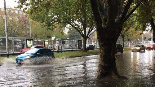 Victoria was also hit with record amounts of rainfall. (9NEWS)