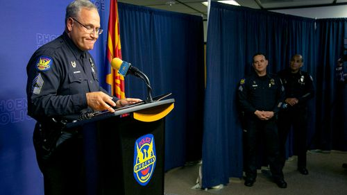 Phoenix Police Sergeant Tommy Thompson speaks about the woman in the vegetative state that became pregnant and gave birth at Hacienda HealthCare in Phoenix.