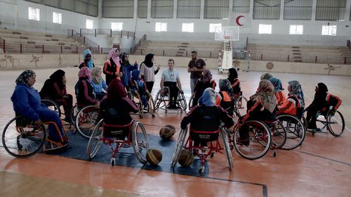 Gazan women shoot for hope with wheelchair basketball