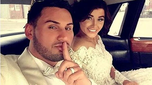 Mehajer and Aysha on their wedding day. (Supplied)
