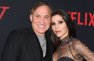 "Terry Dubrow (L) and Heather Dubrow (R) attend the Premiere Of Netflix's ""The Dirt"" at ArcLight Hollywood on March 18, 2019 in Hollywood, California."