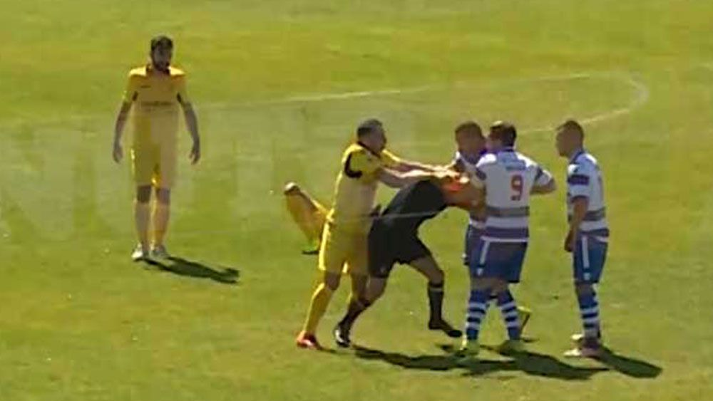 Portuguese footballer receives life ban after kneeing referee in the face