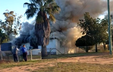 Ms Ward was returning home from work when she received a call saying her house was on fire.