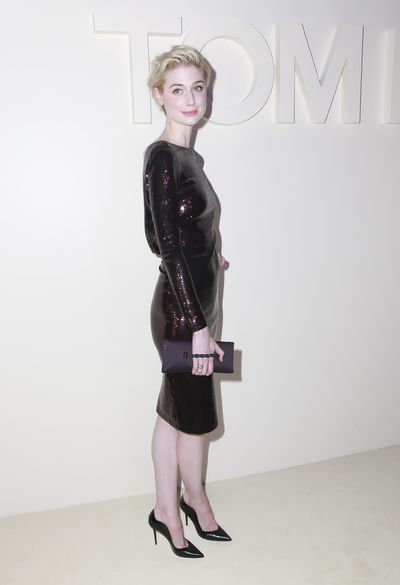 Actress Elizabeth Debicki at Tom Ford's spring/summer 2019 collection for New York Fashion Week, September, 2018
