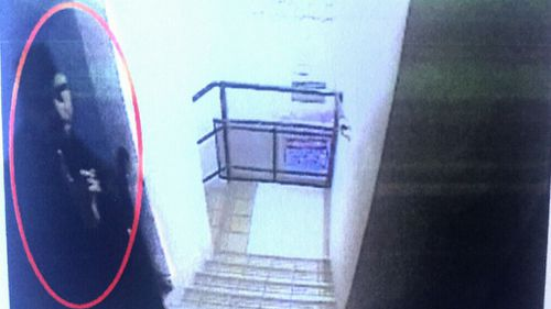 CCTV footage shows Jabar just before the killing. Picture: Supplied