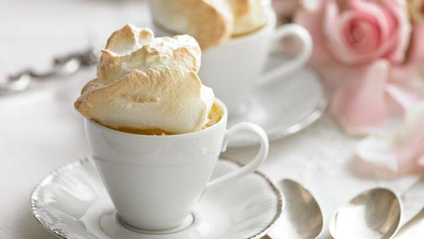 Lemon berry queen puddings
