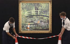 Banksy version of iconic Monet painting expected to fetch $9m