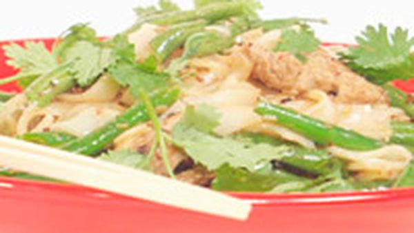 Lemongrass and peppercorn pork stir-fry