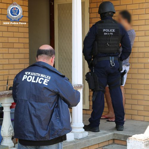 NSW Police raided a number of properties after the opium was allegedly found by ABF agents at a Sydney depot.
