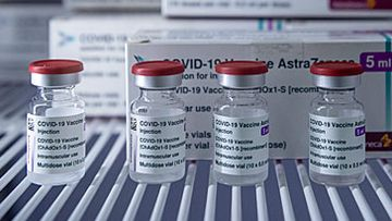 AstraZeneca COVID-19 vaccine vials (Getty)