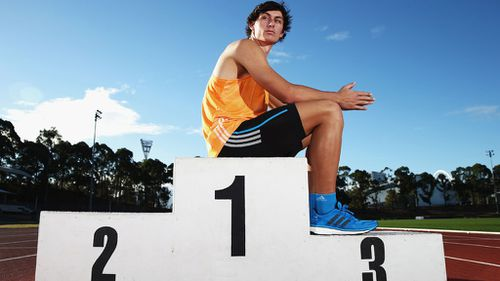 Jake Stein, seen here posing in Sydney prior to the Games, had been a strong contender for a medal in the event. (Getty Images)